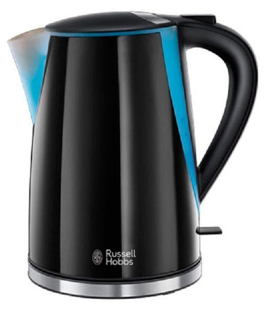 Russell Hobbs 21400-70 электрочайник21400-70Добавьте частицу модного стиля на вашу кухню с чайником Mode. Изящный и стильный, выполненный в прохладном оттенке черного цвета, с блестящими акцентами из нержавеющей стали и тиснением логотипа Russell Hobbs - абсолютная элегантность для любой рабочей поверхности. Объем 1.7 литра и приготовление до 6 чашек идеально подойдет для всей семьи или офисных кухонь. Встроенный отсек для хранения шнура избавит от лишних проводов и удобен для хранения чайника. База с вращением 360° будет удобна для пользования чайником левой или правой рукой.
