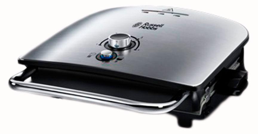 Russell Hobbs 22160-56 электрогриль22160-56Универсальный семейный гриль Russell Hobbs с функцией плавления - идеальное решение для приготовления быстрой и при этом полезной еды. Нижняя нагревающаяся пластина гриля сконструирована таким образом, чтобы выводить излишний жир в специальный съемный поддон, снижая содержание вредных жиров в продукте на 42%. Гриль отлично подходит для приготовления еды и закусок для всей вашей семьи, так как вмещает на своих пластинах до 5 порций одновременно. Кроме того, прибор идеален для приготовления таких нежных продуктов, как, например, рыба, которую лучше зажаривать, не зажимая между пластинами. Функция плавления в гриле Russell Hobbs позволяет готовить вкуснейшую открытую пиццу или сэндвич с сырным топпингом, обеспечивая образование аппетитной румяной сырной корочки.