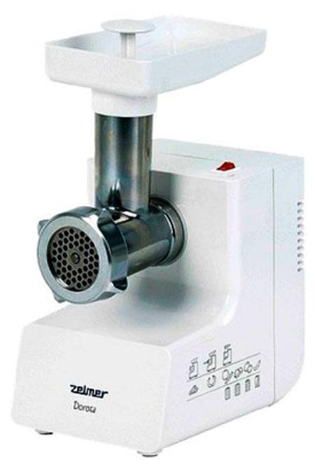 Zelmer ZMM 0805WRU, White мясорубкаZMM 0805WRUНадежная и производительная мясорубка. Благодаря ситцам с отверстиями разного диаметра мясорубка позволяет перемалывать разнообразные пищевые продукты. Кроме того, мясорубка оборудована защитой от повреждения мотора, а также двусторонним ножом, которым Вы можете пользоваться в два раза дольше.