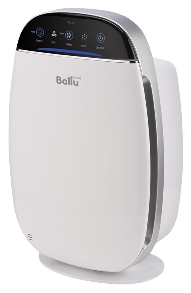 Ballu AP-155 очиститель воздухаAP-155В очистителе воздуха Ballu AP-155 предусмотрены все функции и технологии, необходимые для эффективной и качественной очистки воздуха в помещении. 5 ступеней очистки воздуха, 4 скорости работы вентилятора, удобное сенсорное управление, ионизатор воздуха (отключаемый), 8-часовой таймер на отключение прибора, индикатор уровня чистоты воздуха. Для своевременной замены фильтров в очистителе автоматически учитывается срок работы фильтров. Очиститель обслуживает помещение площадью до 20 кв. метров. Прибор предназначен для очистки воздуха в помещении от пыли, шерсти, аллергенов и прочих вредных примесей. С помощью вентилятора воздушный поток проходит через Pre-Carbon фильтр, задерживающий относительно крупные частицы. Затем воздух проходит через HEPA-фильтр, задерживающий пыльцу, аллергены и прочие частицы размером до 0,3 мкм. Далее VOC-фильтр 2 в 1 (угольный фильтр + цеолит), абсорбирует и впитывает неприятные запахи, химические соединения, такие как CO2, формальдегид, фреон....