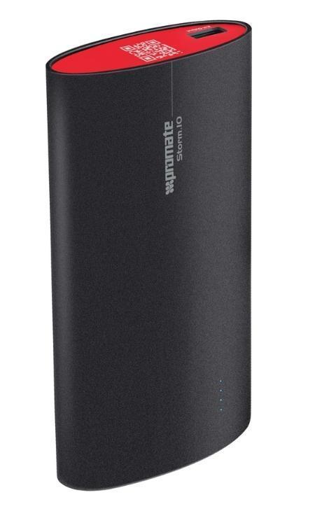 Promate Storm.10, Black внешний аккумулятор00007485Инновация и дизайн - вот что представляет собой Storm.10 - мощный портативный аккумулятор для подзарядки емкостью 10 000 mAh., который будет незаменимым помощником тогда, когда рядом нет электрических розеток, а заряд Вашего телефона вот вот закончится. Корпус создан из экологически чистых материалов, а литиево-ионная батарея гарантирует полную зарядку iPhone 5-6 раз. Что отличает этот аккумулятор от других - так это уникальная технология, которая позволяет оценить оставшуюся мощность батареи - достаточно немного потрясти прибор. Все эти инновации, вместе с компактным дизайном делают этот аккумулятор ультра-портативным и ультра-модным. Для тех, кто не сидит на месте. Storm.10 позволяет Вам жить без ограничений, не заботясь о том, где найти подзарядку для Вашего смартфона.