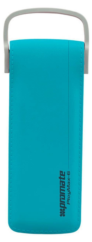 Promate PolyMax-6, Blue внешний аккумулятор6959144020556Исключительный по техническим характеристикам и внешнему виду портативный аккумулятор. Отделка под кожу, встроенный кабель с выходом в 2,4 А, ультратонкий дизайн (менее 1,5 см толщины) и реальная заявленная емкость делает его оптимальным выбором для любого пользователя. 2 полноценные зарядки любого сматфона, адекватно высокая скорость зарядки (~1,5 часа), а также возможность заряжать планшет вкупе со стильным дизайном - все это моментально привлекает внимание к этому действительно уникальному гаджету.