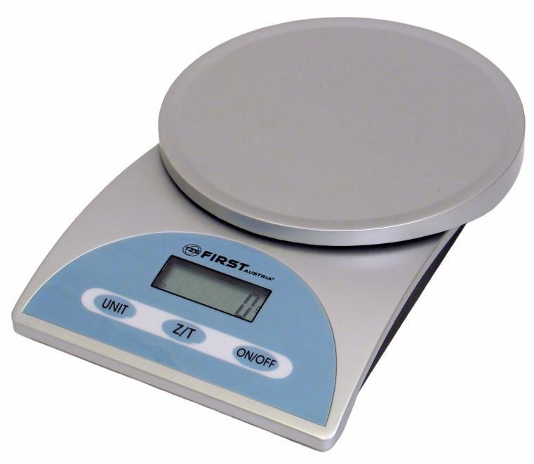 First FA-6405, Silver весы кухонныеFA-6405 Silver6405 Весы кухонные FIRST, электр., 5 кг, 1 гр., тарокомпенсация, Silver