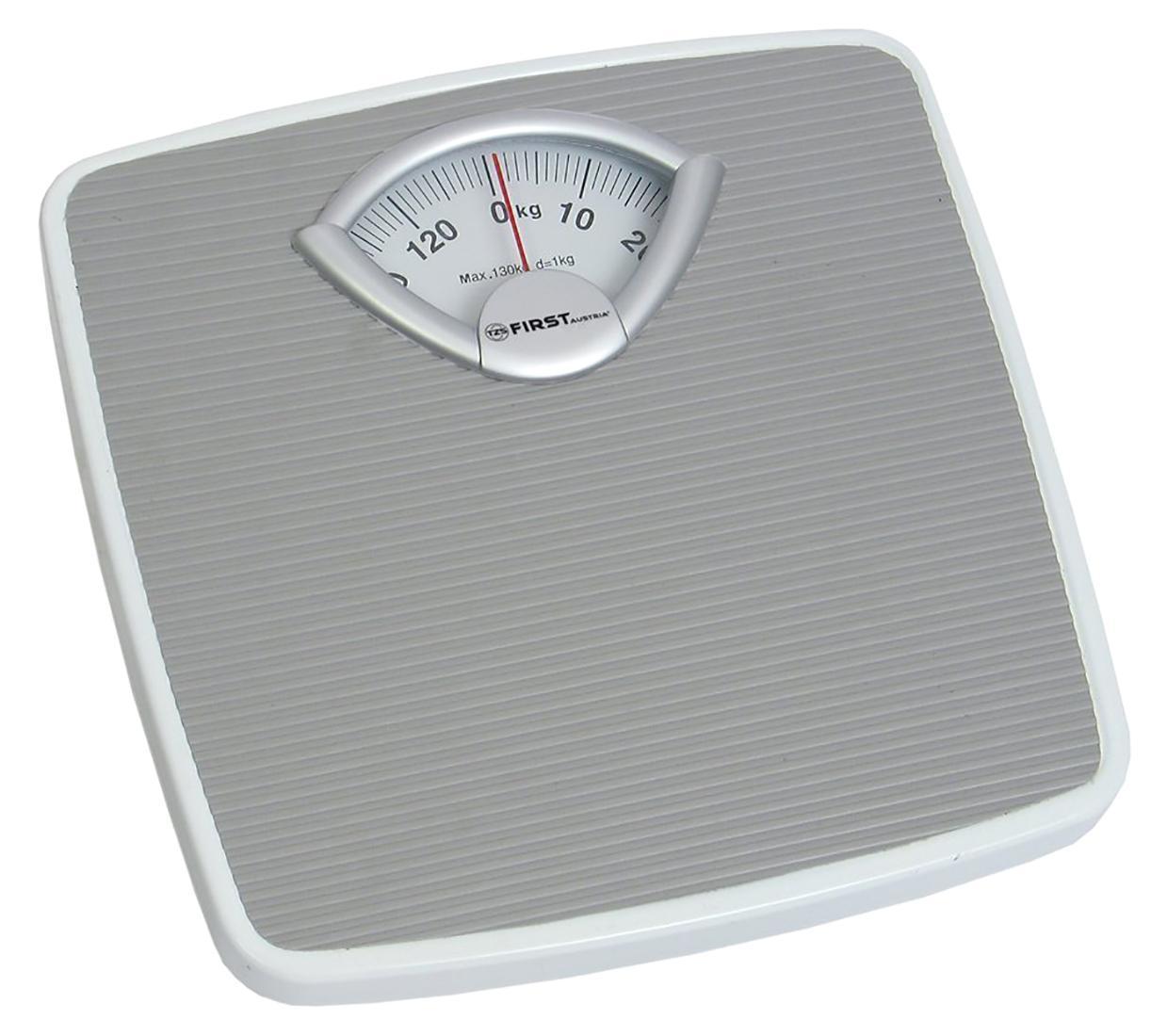 First FA-8004-1, Grey весы напольныеFA-8004-1 Grey8004-1 Весы напольные FIRST, механика, пластик., 130 кг, 1 кг, Grey