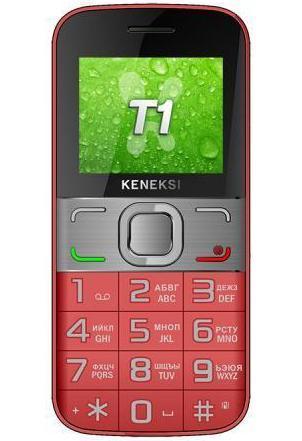 Keneksi T1, RedT1 RedKeneksi T1 - мобильный телефон в классическом корпусе с большими клавишами для удобного набора. Благодаря поддержке двух SIM-карт вы сможете разделить рабочие и личные звонки, а также существенно сэкономить на мобильной связи. Телефон оборудован 2 дюймовым TFT экраном, камерой 0.3 мегапикселя с возможностью записи видео, FM-радиоприемником и аккумулятором емкостью 1000 мАч. Для расширения памяти можно использовать карты microSD.