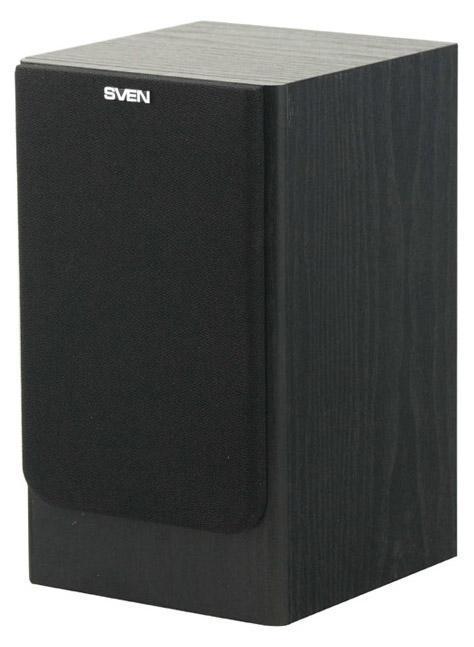 Sven SPS-610, Black акустическая система 2.0SPS-610 BlackSVEN SPS-610 – это мультимедийные колонки с оптимальным соотношением цена/качество в хорошо знакомом формате SVEN 2.0! Главные достоинства этой двухполосной системы: громкий звук с мощным басом, который получен за счет использования 4-дюймового динамика, а также простота в эксплуатации и удобство в управлении. Выход на наушники и управление уровнем громкости и тембром НЧ/ВЧ в новой модели расположены на передней панели корпуса. То есть регулировать настройки очень удобно – они всегда под рукой. На задней стенке находятся разъемы для подключения различных источников аудиосигнала: ПК, DVD/CD/MP3-плееров. В комплект входят все необходимые для этого провода: соединительный и сигнальный входной кабели. Кроме того, предохранитель, вынесенный на заднюю панель, в случае сбоя в электросети, дает возможность самостоятельной замены. SVEN SPS-610 прекрасно воспроизводит музыку самых разных стилей, динамичные компьютерные игры, энергичные сцены блокбастеров –...