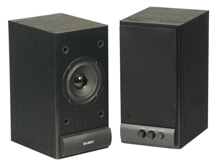 Sven SPS-609, Black акустическая система 2.0SV-0120609BKSVEN SPS-609 – является представителем линейки экономичной акустики 2.0, созданной компанией SVEN в качестве антикризисного решения вопроса прослушивания музыки, просмотра фильмов и звукового сопровождения компьютерных игр – удобно и без ущерба для бюджета. SPS-609 – вторая по цене в линейке деревянной акустики SVEN, отличающаяся от своей предшественницы – SVEN SPS-607 – увеличенной мощностью и размерами. Увеличенный ход катушки динамиков позволяет воспроизводить звук практически без искажения. Главное же преимущество остается неизменным: сочетание простоты в использовании, легкости в управлении и невысокой стоимости. Регуляторы уровня громкости и тембра ВЧ расположены на передней панели корпуса, также как и выключатель питания. Это очень удобно, так как все настройки находятся под рукой. На задней стенке расположены разъемы для подключения различных источников аудиосигнала: ПК, DVD/CD/MP3-плееров. SVEN SPS-609 – это оптимальное соотношение цены и качества, а значит – отличный...
