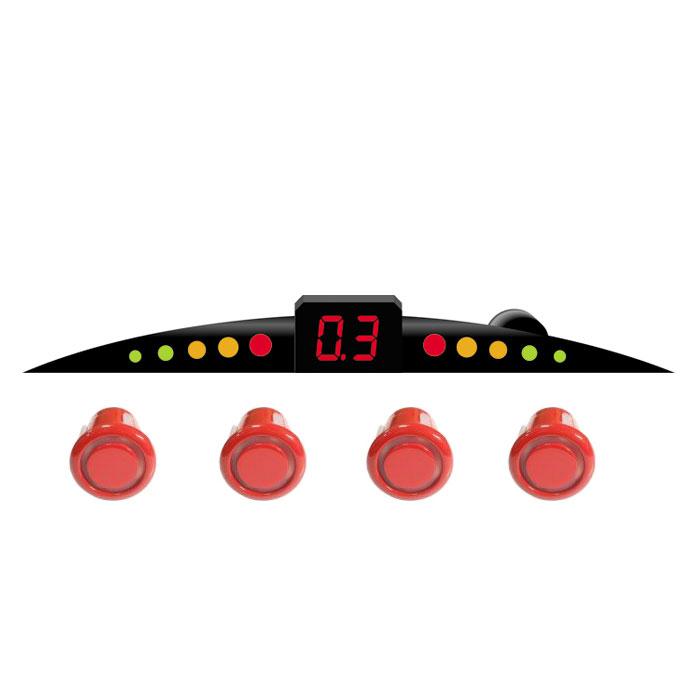 ParkCity Ultra Slim New 418/110, Red парковочный радар00000007907Очень часто приходится парковаться на оживленных улицах с ограниченным пространством для маневра. В данной ситуации вам непременно поможет парктроник ParkCity Ultra Slim New 418/110, позволяющий припарковать ваш автомобиль в самых сложных ситуациях. Уникальность данной модели - это сверхтонкий размер светодиодной шкалы и встроенный бипер со звуковым напоминанием о приближении препятствия. Комплектуется четырьмя датчиками и определяет расстояние до препятствия с 2,5 до 0,3 метров. Диаметр датчиков равен 18 мм. Уровень громкости звукового сигнала: 80 дБ Диапазон рабочих температур: от -35 до +70°С Напряжение питания: от 10,8 до 15 В Потребляемая мощность: 5 Вт Регулировка громкости звука Самодиагностика при включении