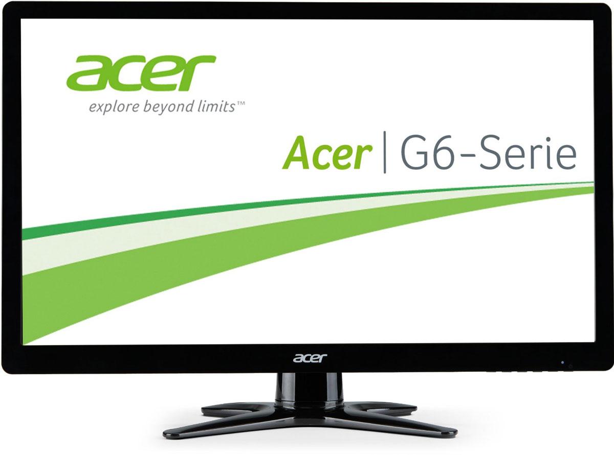 Acer G246HLBBID мониторUM.FG6EE.B02Мониторы Acer серии G6 невероятно стильные и имеют сверхтонкий профиль. Отличная производительность и разумное потребление энергии дополняют элегантный дизайн — и при этом позволяют уложиться в бюджет. Мониторы Acer серии G6 впечатляют сверхтонким профилем с X-образной подставкой, которая позволяет им идеально вписываться в пространство любого размера.