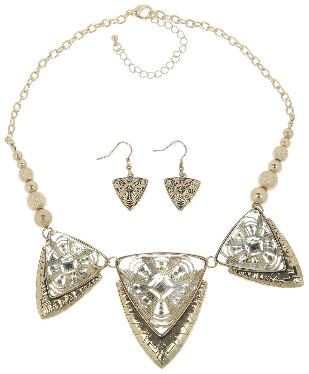 Комплект украшений Avgad: колье, серьги, цвет: бронзовый. H-477S1013
