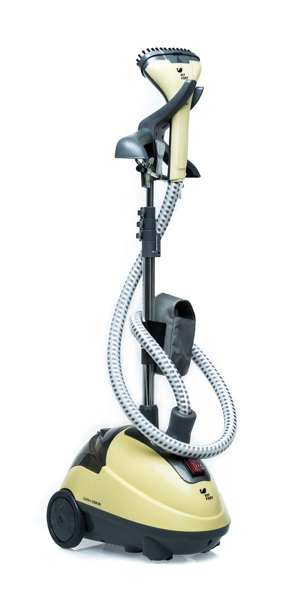 Kitfort KT-901 отпаривательKT-901 YellowВертикальный отпариватель Kitfort KT-901 - это современное устройство, позволяющее гладить одежду и домашний текстиль, не затрачивая много усилий. Одно из неоценимых преимуществ Kitfort KT-901 - высокая скорость глажки. Отпариватель состоит из парогенератора и резервуара с водой. Вы можете заливать в него обычную воду из крана, не боясь образования накипи и отложения солей.