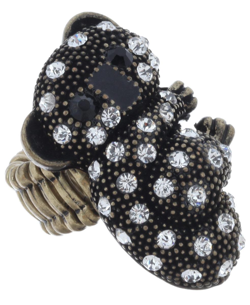 Кольцо Avgad, цвет: бронзовый. EA178JW305EA178JW305Оригинальное кольцо Avgad изготовлено из ювелирного сплава. Изделие дополнено декоративным элементом в виде панды, украшенной стразами. Элементы кольца соединены между собой при помощи тонкой резинки, благодаря которой изделие имеет универсальный размер. Его легко снимать и надевать. Это необычное украшение внесет изюминку в ваш модный образ, а также позволит выделиться среди окружающих.