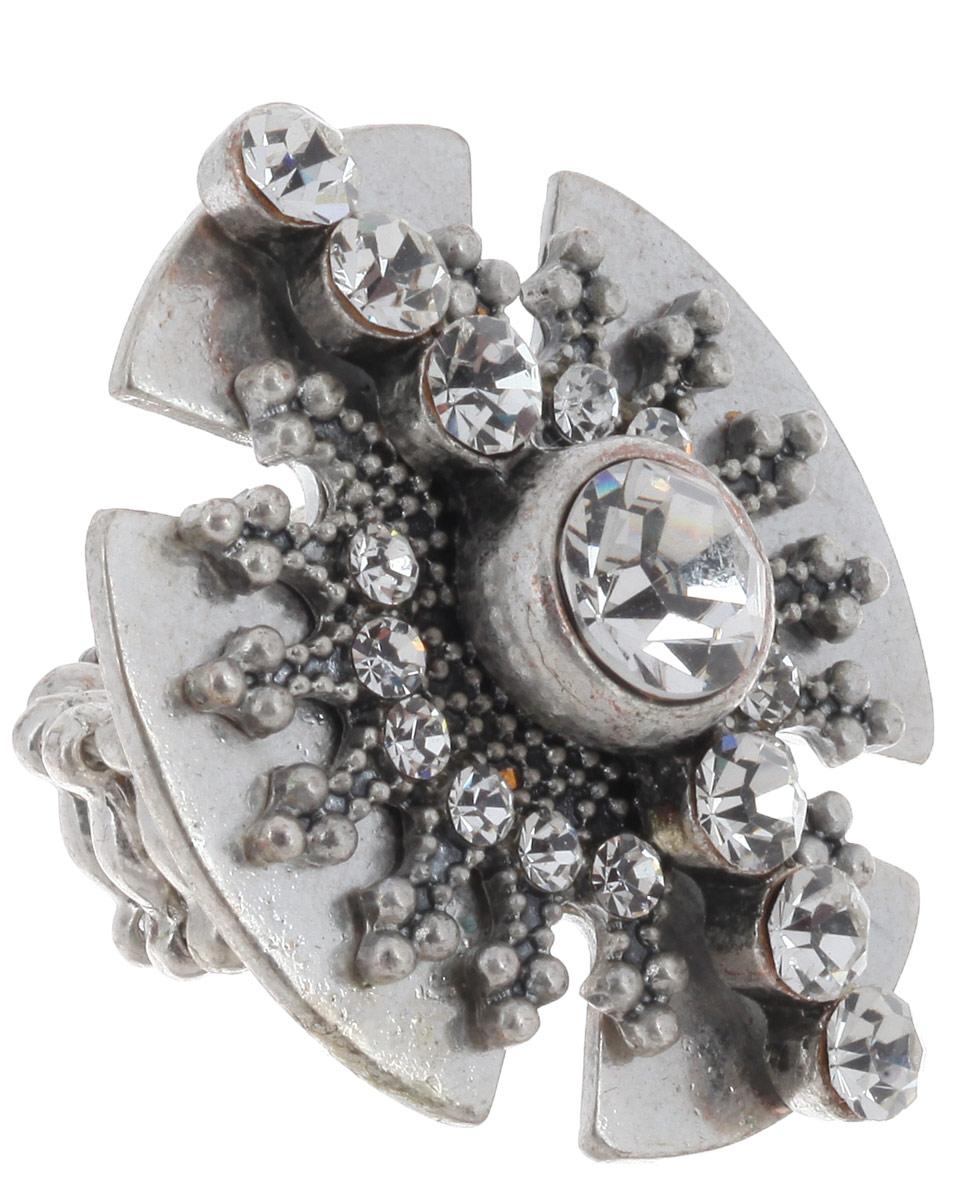 Кольцо Avgad, цвет: серебристый. EA178JW263EA178JW263Оригинальное кольцо Avgad, выполненное из ювелирного сплава, дополнено стразами. Элементы кольца соединены с помощью тонкой резинки, благодаря этому оно легко надевается и снимается. Размер универсальный. Кольцо позволит вам с легкостью воплотить самую смелую фантазию и создать собственный, неповторимый образ.