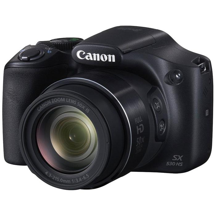 Canon PowerShot SX530 HS (9779B002) цифровая фотокамера9779B002Запечатлейте каждый момент с невероятной детализацией, используя камеру Canon PowerShot SX530 HS с 50x зумом, которая позволяет с легкостью снимать и делиться изображениями. Наслаждайтесь легким управлением, улучшайте свои навыки в фотографии и полностью контролируйте творческий процесс. Снимайте отдаленные объекты и широкие панорамы: Снимайте все: от крупных планов отдаленных объектов до групповых фото и потрясающих пейзажей с компактной универсальной камерой. Легкая портативная камера, которую можно взять с собой куда угодно, с мощным 50х оптическим зумом. Всегда резкие снимки: Теперь, благодаря системе интеллектуальной оптической стабилизации изображения, не нужно беспокоиться о том, что случайные сотрясения камеры могут испортить качество снимков. Камера настраивается автоматически и обеспечивает четкие и резкие фотографии и видеоролики, даже при съемке с полным увеличением или в условиях слабого освещения. ...