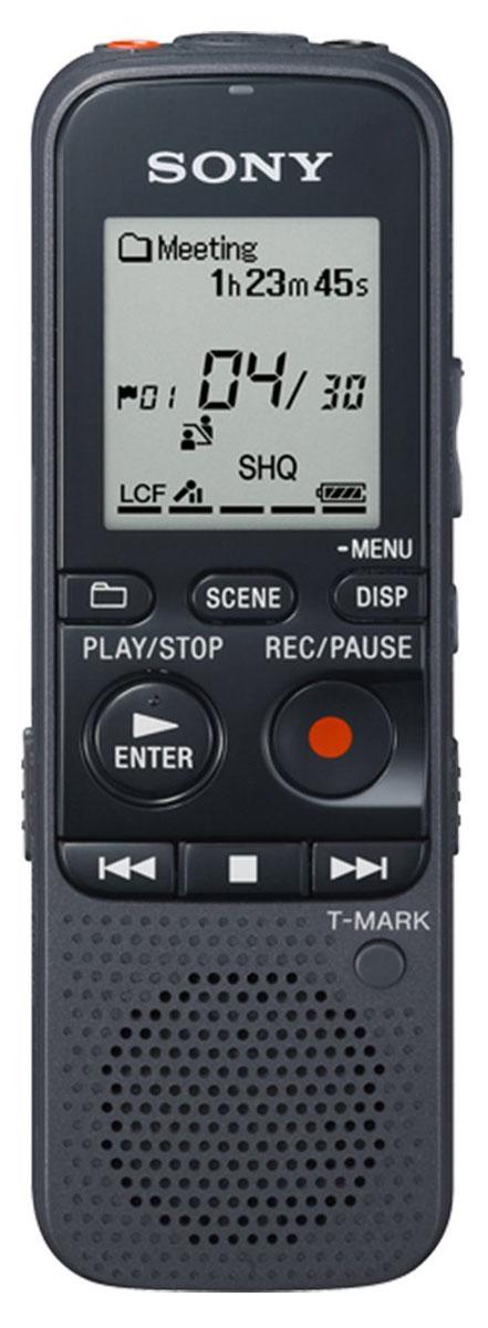 Sony ICD-PX333 диктофонICDPX333.CE7Запись/воспроизведение MP3 Записывайте высококачественный, кристально чистый звук и потом слушайте его через фронтальный динамик Sony ICD-PX333 мощностью 300 мВт! Максимальное время записи во встроенную память - 1073 часа в режиме LP (MP3 8 кбит/с). Режим выбора сцены Scene Select Для оптимизации настроек звука выберите тип записи, которую хотите сделать (музыка, переговоры, интервью, диктовка). Умное шумоподавление Данная функция увеличивает громкость человеческого голоса и делает его намного более понятным, уменьшая при записи уровень отвлекающего фонового шума. Разметка дорожки На каждую запись вы можете ставить несколько закладок, а во время воспроизведения сразу переходить к следующей или предыдущей записи. ЖК-экран Точечно-матричный ЖК-экран создан для удобства управления и систематизации записей вашего диктофона Sony ICD-PX333. Улучшенный процесс записи Sony ICD-PX333 можно...