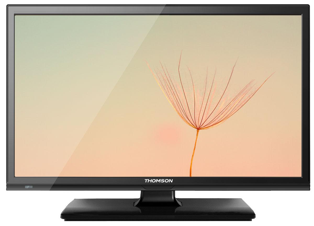Thomson T19E14DH-01B телевизорT19E14DH-01BТелевизор Thomson T19E14DH-01B с насыщенной цветопередачей изображения на экране с разрешением HD и широкими углами обзора. Встроенный цифровой тюнер телевизора имеет электронный модуль со слотом CI+, который позволяет просматривать кодированные телевизионные сигналы. Источником сигнала для качественной реалистичной картинки служат не только цифровые эфирные и кабельные каналы, но и любые записи с внешних носителей, благодаря универсальному встроенному USB медиаплееру. Рабочее напряжение: 110-240 В.