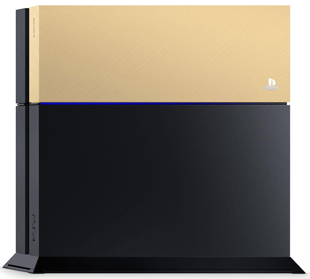 Дополнительная крышка для жесткого диска PS4 (золотая)