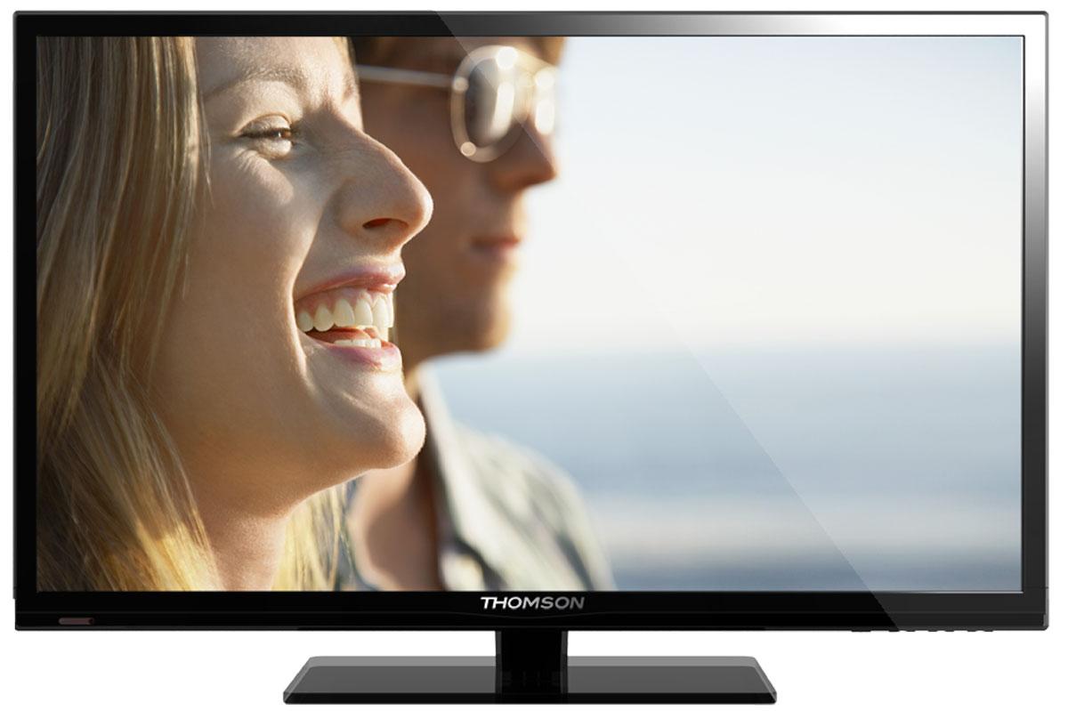 Thomson T48D17SF-01B телевизорT48D17SF-01BТелевизор Thomson T48D17SF-01B с насыщенной цветопередачей изображения на экране с разрешением высокой четкости FullHD и широкими углами обзора. Встроенный цифровой тюнер телевизора имеет электронный модуль со слотом CI+, который позволяет просматривать кодированные телевизионные сигналы. Источником сигнала для качественной реалистичной картинки служат не только цифровые эфирные и кабельные каналы, но и любые записи с внешних носителей, благодаря универсальному встроенному USB медиаплееру в том числе MKV.