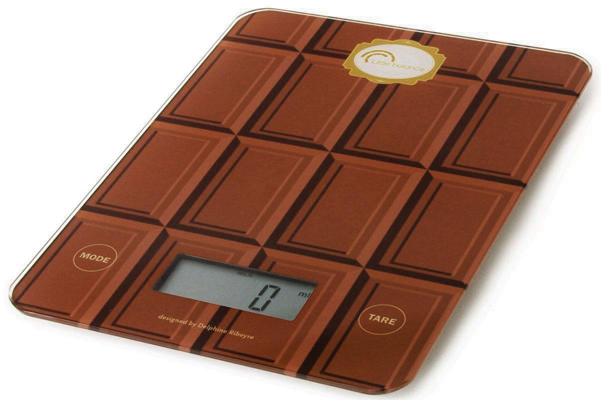 Кухонные весы Little Balance Шоколад. 80898089Электронные кухонные весы Little balance Шоколад, выполненные из высокопрочного пластика и полимерных материалов с сенсорным стеклянным дисплеем, придутся по душе каждой хозяйке и станут незаменимым аксессуаром на кухне. На дисплее присутствуют единицы измерения в граммах, унциях, миллилитрах. Вам больше не придется использовать продукты на глаз. Весы Little balance позволят вам с высокой точностью дозировать продукты, следуя вашим любимым рецептам. Размер дисплея: 56 x 33 мм LCD подсветка: серая