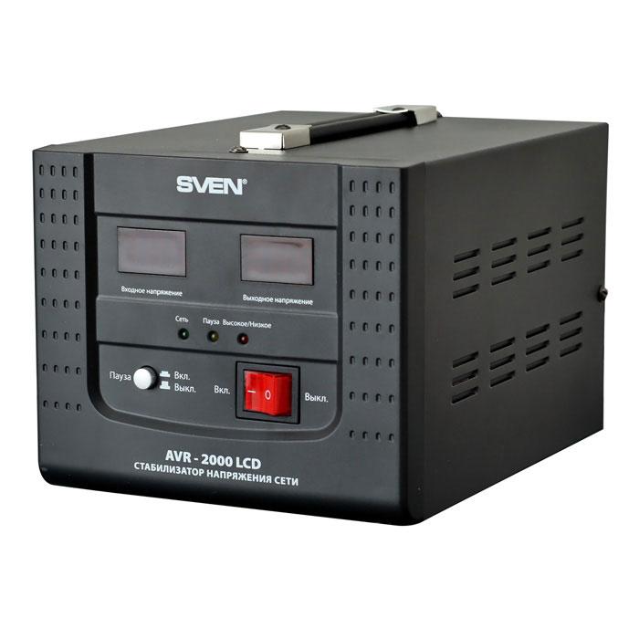 Sven AVR-2000 LCD стабилизатор напряжения ( SV-0211AVR2000LCD )