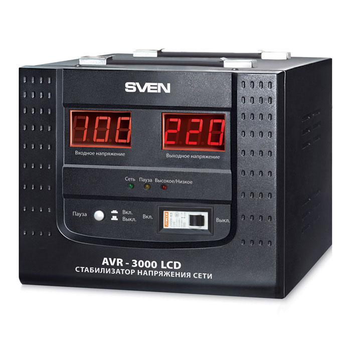 Sven AVR-3000 LCD стабилизатор напряжения
