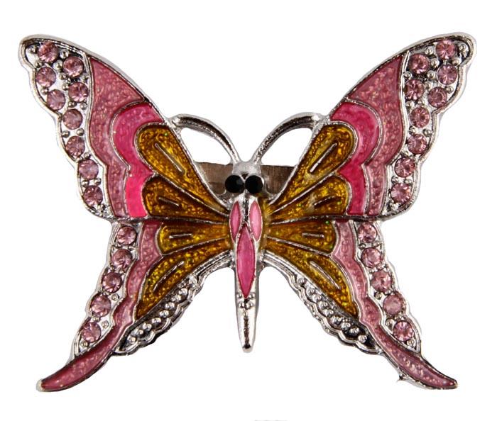 Брошь Цветная бабочка. Металл, полихромные эмали, кристаллы. Корея, конец XX векаr642f605Брошь Цветная бабочка. Металл, полихромные эмали, кристаллы. Корея, конец XX века. Размеры 5 х 4 см. Сохранность хорошая. Очаровательная яркая брошь, выполненная в виде небольшого серебристого мотылька. Аксессуар инкрустирован целой россыпью мелких сверкающих страз, украшен эмалью различных цветов. Эта изысканная брошь станет стильным украшением для романтичной и творческой натуры и гармонично дополнит Ваш наряд, станет завершающим штрихом в создании образа.