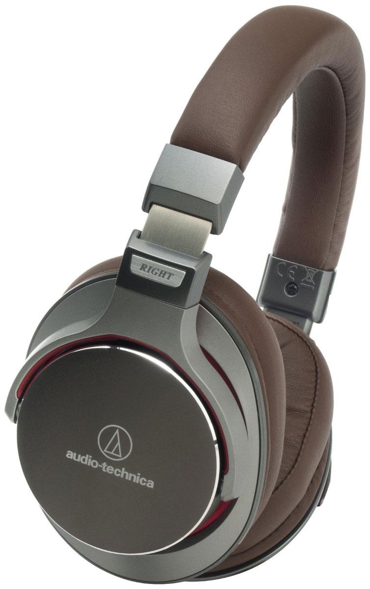Audio-Technica ATH-MSR7, Brown наушникиATH-MSR7 GMAudio-Technica ATH-MSR7 - это полноразмерные универсальные наушники, сочетающие в себе Hi-Fi-звук и премиальный дизайн, сдержанный и стильный. Модель разработана на базе новой воздушно-потоковой технологии, позволяющей улучшить звучание за счет особой циркуляции воздуха в корпусе устройства. Мягкие амбушюры наушников MSR7 способны запоминать форму уха, сводя давление до минимума и обеспечивая долгие часы комфортного прослушивания.