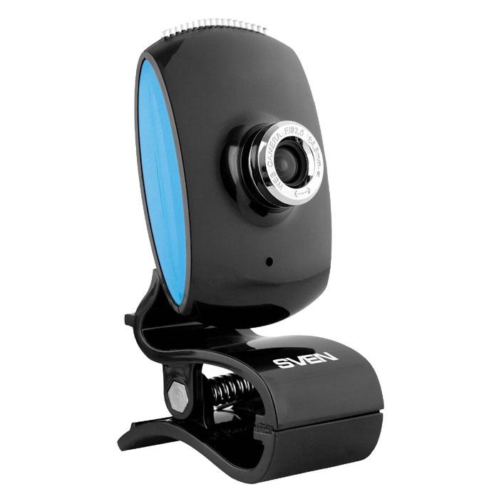 Sven IC-350 веб-камераSV-0602IC350Веб-камера SVEN IC-350 имеет такие особенности: встроенный микрофон, настраиваемое фокусное расстояние. В конструкции предусмотрены удобная клипса для установки камеры (на монитор или поверхность стола) и шариковый шарнир для поворота камеры под нужным углом. Такое устройство – отличное решение для тех, кто ценит функциональность и доступность в плане цены. Дизайн у модели классический. Камера имеет интерфейс USB и поддерживает технологию Plug&Play. Длина кабеля: 1,25 м Фокусное расстояние: 4,8 мм – бесконечность Частота кадров: до 30 кадров/сек