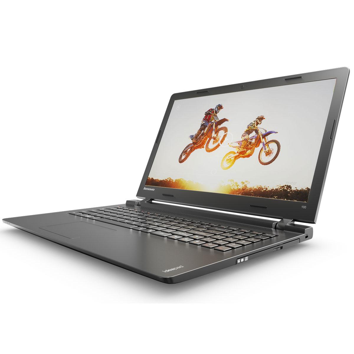 Lenovo IdeaPad 100-15IBY, Black (80MJ00E2RK)LR80MJ00E2RKТонкий, доступный по цене 15,6-дюймовый ноутбук Lenovo IdeaPad 100. Все, что нужно. Ничего лишнего. Если вы ищете недорогой производительный ноутбук, выбирайте IdeaPad 100. Созданы для спокойствия: Вы когда-нибудь работали с ноутбуком в кафе? Оставлять его на столике без присмотра довольно опасно. К счастью, Ideapad 100 можно защитить замком Kensington MiniSaver. Прочный тросик позволит пристегнуть устройство к тяжелому или неподвижному предмету, а затем спокойно отойти к столику друзей или за новой чашкой кофе. Тонкий, легкий и портативный: Хватить изнывать под тяжестью громоздкого ноутбука. Модель Ideapad 100 имеет всего 22,6 мм в толщину и весит около 2,3 кг - идеальный вариант для поездок и путешествий. Модули подключения: С помощью модулей связи Wi-Fi стандарта 802.11 b/g/n и Bluetooth 4.0 вы с легкостью сможете подключиться к Интернету отовсюду. Точные характеристики зависят от модификации. ...