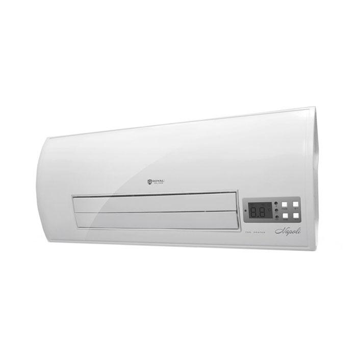 Royal Clima RFH-N2000W тепловентиляторRFH-N2000WRoyal Clima RFH-N2000W - тепловентилятор с эксклюзивным итальянским дизайном и функциональностью. Современное управление, расширенный набор всех необходимых функций и режимов, 2 мощности обогрева 1000 и 2000 Вт, дисплей с индикацией всех необходимых режимов и эргономичный пульт ДУ в комплекте делают эксплуатацию тепловентилятора по-настоящему удобной и приятной. Безопасную эксплуатацию прибора обеспечивает система Security Project, включающая в себя высокий класс электрозащиты и влагозащиты и встроенный предохранитель от перегрева. 2 режима нагрева воздуха Регулировка направления воздушного потока Система безопасной эксплуатации Security Project Класс электрозащита I Высокий класс защиты от влаги IP24 Пульт ДУ в комплекте