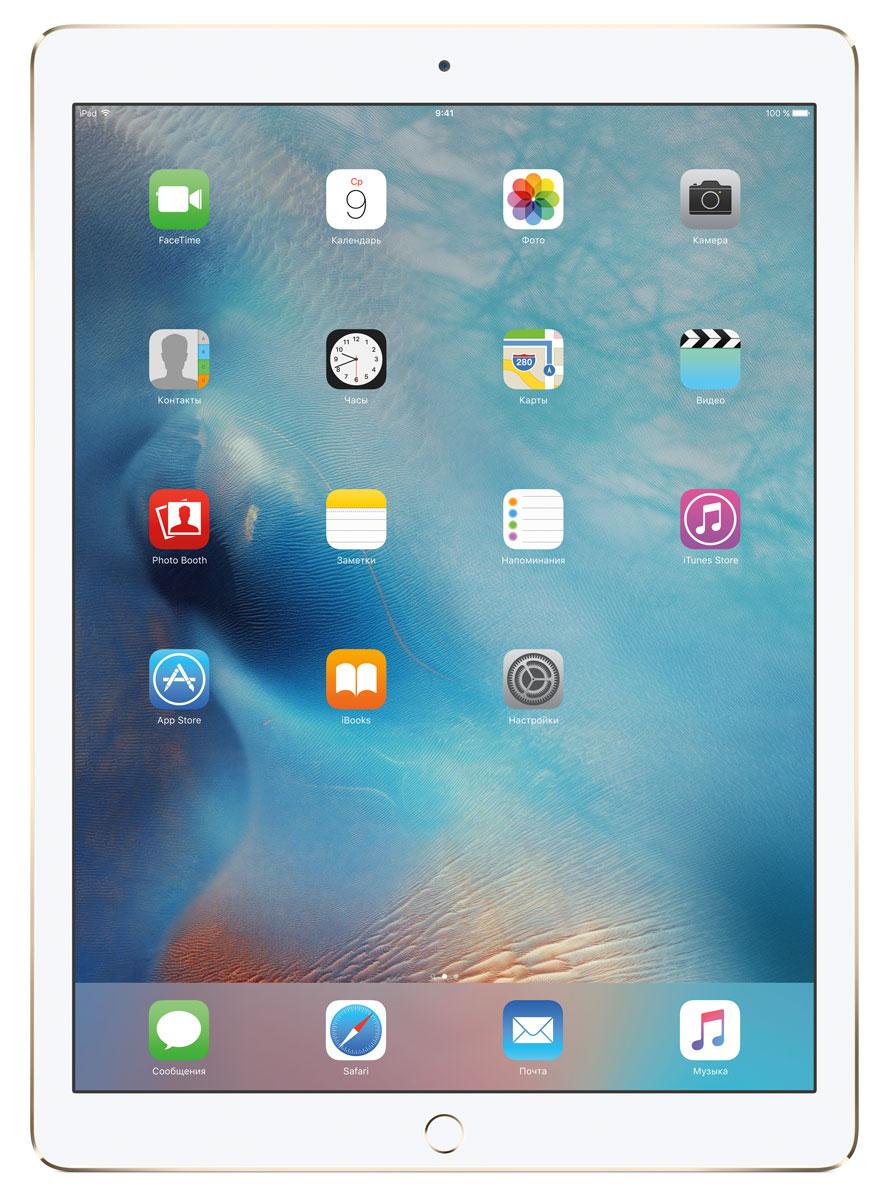 Apple iPad Pro Wi-Fi 32GB, GoldML0H2RU/AС Apple iPad Pro мир ваших увлечений станет ещё обширнее. Он оснащён потрясающим 12,9-дюймовым дисплеем Retina и улучшенной технологией Multi-Touch, а его производительность почти в два раза превосходит iPad Air 2. Новый iPad Pro не просто больше - с ним вы получите возможность работать и творить в совершенно иных масштабах. Дисплей Retina с диагональю 12,9 на iPad Pro - самый совершенный из всех. Он на 78% больше, чем у iPad Air 2, а под его стеклом уместились обновлённая подсистема Multi-Touch и самое высокое разрешение среди всех устройств iOS - 5,6 миллиона пикселей. Его потрясающая чёткость и впечатляющие цвета, включая насыщенный чёрный, делают любое занятие, от обработки фотографий до игр со сложной графикой, невероятно увлекательным. В корпус данной модели встроено четыре передовых динамика, которые обеспечивают живой и объёмный звук. И впервые отсеки для них вырезаны прямо в корпусе unibody. Благодаря новой архитектуре динамики получили ...