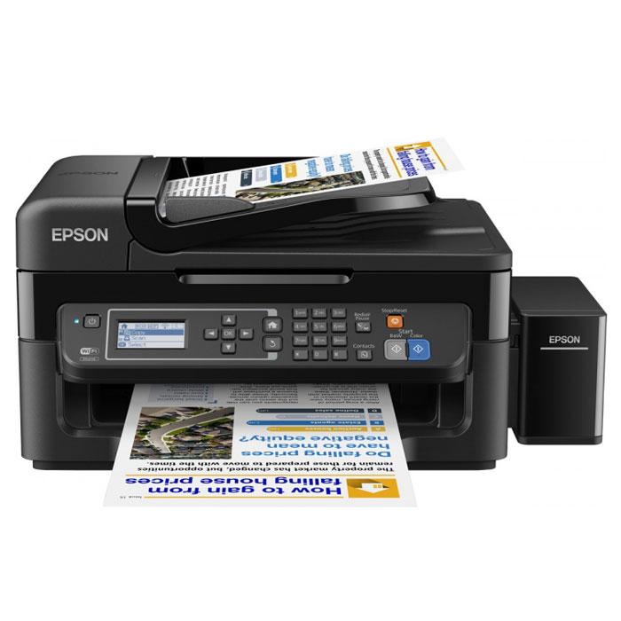 Epson L566, Black МФУC11CE53403Epson L566 — это высокоскоростное 4-цветное МФУ с факсом и большими емкостями для чернил вместо картриджей, которое идеально подходит для печати больших объёмов документов с рекордно низкой себестоимостью. Особенность всех устройств серии Фабрика печати Epson – это печать без картриджей. Вместо картриджей в Epson L566 встроены емкости, из которых чернила поступают в печатающую головку через специальные тракты. При этом уникальное строение емкостей и трактов гарантирует высокое качество печати и надежность устройства. Сэкономьте место на рабочем столе и установите Epson L566 в любом удобном месте — с функцией подключения по беспроводной сети Wi-Fi пользователи могут сканировать и отправлять задания на печать из любого уголка квартиры или офиса. Epson Connect - это сервис приложений для беспроводной работы с принтерами и МФУ Epson. Сканируйте и печатайте изображения с мобильных устройств на базе iOS и Android через приложение Epson...