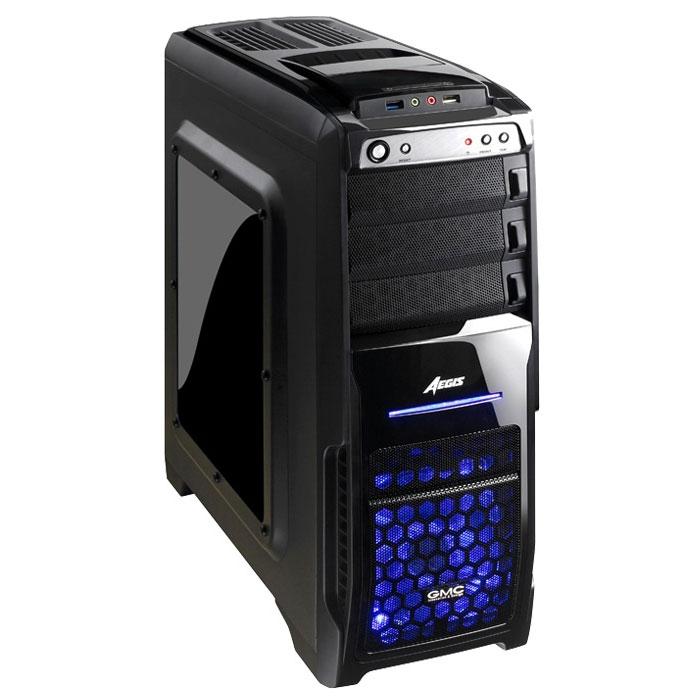 GMC Aegis Pro, Black компьютерный корпус00000077453Стильный корпус GMC Aegis Pro для высокопроизводительных систем. В нем установлены два кулера сверху и спереди. При выключении кулера LED подсветка гаснет. Два 120-мм кулера (спереди и сзади) обеспечивают постоянный приток холодного воздуха к системе и отвод горячего воздуха из неё. Стильная боковая панель из акрила GMC Aegis Pro выгодно выделяет его в ряду обычных корпусов. На корпусе сверху расположен отсек для установки жестких дисков.