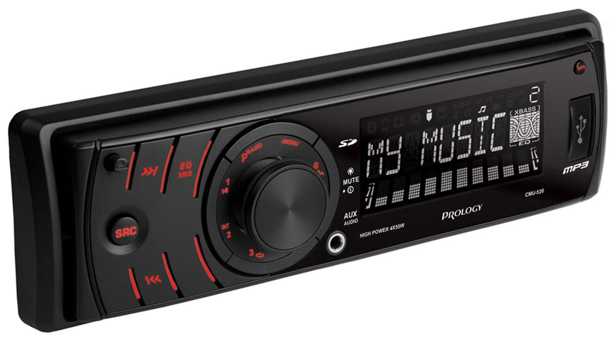 Prology CMU-520 автомагнитолаPROLOGY CMU-520Простое и надежное головное устройство Prology CMU-520 формата 1DIN без дискового привода, предназначенное для воспроизведения музыки популярных форматов MP3 и WMA с USB-флешек и SD-карт. Радиотюнер имеет расширенный FM/УКВ диапазон. Линейный аудиовыход позволяет построить в автомобиле систему с внешними усилителями.
