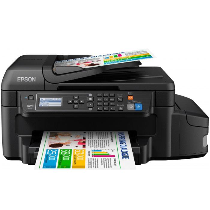 Epson L655 МФУC11CE71403Epson L655 — это первая Фабрика печати Epson с функцией автоматической двусторонней печати, цветными водорастворимыми и черными пигментными чернилами и фронтальным лотком для загрузки бумаги. Таким образом, данное устройство сочетает в себе все требования, которые предъявляли бизнес - пользователи к Фабрике печати. Приобретя это устройство, вы получите не только рекордную экономичность, но и широкий функционал, а также высококачественную печать текса, как на лазерном принтере. Струйная печать без картриджей: Особенность всех устройств Фабрики печати Epson – это печать без картриджей. Вместо картриджей в Epson L655 использует специальные емкости, из которых чернила поступают в печатающую головку через специальные тракты. При этом уникальное строение емкостей и трактов гарантирует высокое качество печати и надежность работы устройства даже без использования картриджей. Возможность печати до 3-х лет без замены расходных материалов: Расходными...