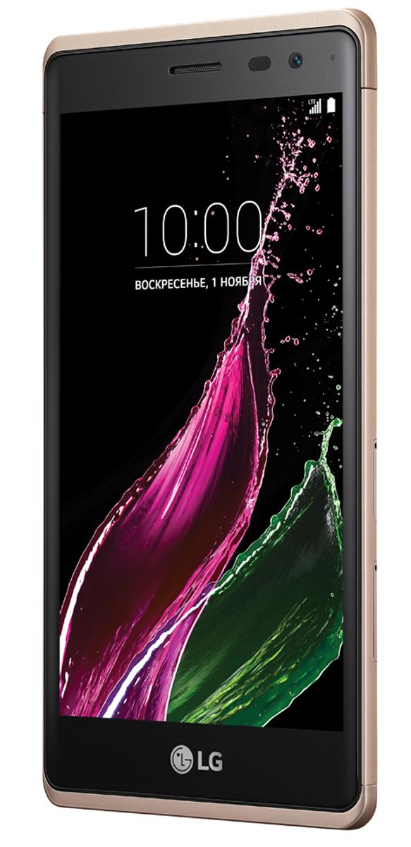 LG Class H650E, Shiny GoldLGH650E.ACISSGНовый LG Class - это настоящее воплощение стиля и гармонии. Плавные изгибы 2.5 D-стекла дисплея прекрасно вписываются в металлический корпус толщиной всего 7,4 мм. Этот тонкий смартфон с закругленными гранями дисплея и потрясающей эргономикой особенно приятно держать в руке. Сохраните лучшие моменты: С LG Class возможности для селфи просто безграничны. Высококлассная фронтальная камера 8 Мп позволяет делать яркие, четкие селфи отличного качества. В то же время основная камера 13 Мп позволит во всех деталях запечатлеть самые важные и интересные моменты вашей жизни - именно такими, какими вы хотите их запомнить. Потрясающие селфи: Делать селфи с LG Class просто и удобно. Благодаря интервальной съемке по жесту руки достаточно дважды сжать и разжать кулак, и вы автоматически получите серию из 4 селфи, сделанных с разницей в несколько секунд. Интервальная съемка по жесту руки работает на дистанции до 1,5 метров, поэтому вы без проблем можете ...