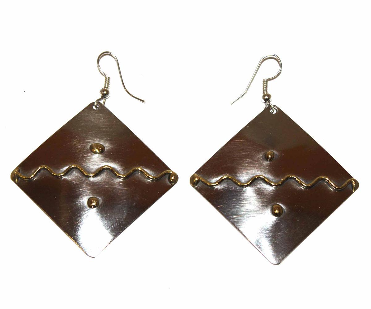 Серьги Ethnica, цвет: серебряный, золотой. 155025_1 ( 155025 )