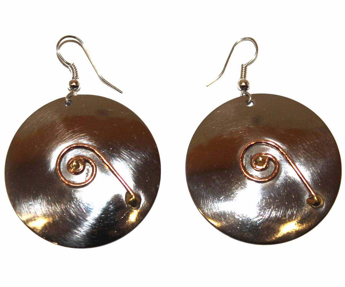 Серьги Ethnica, цвет: серебряный, золотой. 155025_2 ( 155025 )