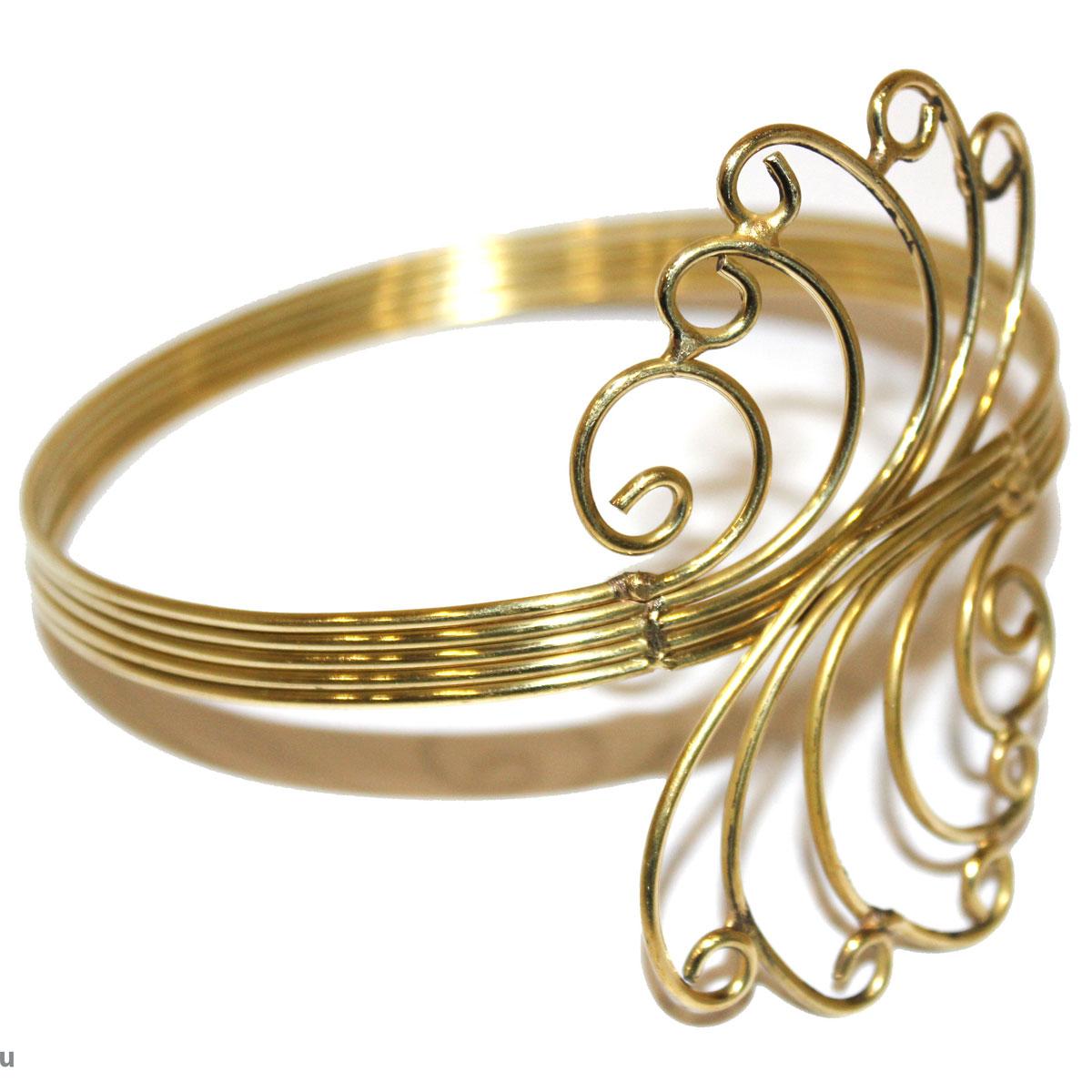 Браслет Ethnica, цвет: золотой. 244075244075Изящный браслет на плечо Ethnica - стильный аксессуар, который позволит вам с легкостью воплотить самую смелую фантазию и создать собственный, неповторимый образ. Изделие, изготовленное из гипоаллергенного материала, выполнено из металла цвета античного золота и оформлено витыми декоративными элементами. Размер браслета регулируется. Такой оригинальный браслет не оставит равнодушной ни одну любительницу изысканных и необычных украшений.