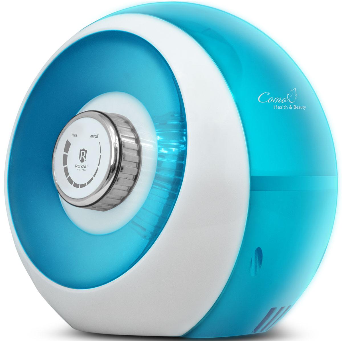 Royal Clima RUH-С300/2.5M-BU Como, Blue увлажнитель воздухаRUH-С300/2.5M-BUСерия увлажнителей воздуха Royal Clima Como воплотила в себе не только многофункциональность, высокое качество, но и совершенно новый подход к ставшему привычным пониманию формы и цвета. Дизайнерское решение, основанное на концепции ART Immaginariо, что в переводе с итальянского буквально означает воображение, позволило создать уникальный дизайн прибора, который представляет собой шарообразную форму корпуса и коллажный эффект сочетания двух цветов - черного и белого глянца Stella Art и лазурного голубого и белого глянца Azzurra Riviera. Royal Clima Como сочетает в себе 4 функции в одном приборе. Помимо эффективного увлажнения воздуха до 300 мл в час прибор оснащен встроенной ароматической капсулой Aroma Nature, отключаемым ионизатором воздуха Ionic Wave и мягкой подсветкой передней панели Sweet Dreams. В комплект прибора входит 5 угольных фильтров для очистки воды, что обеспечивает беззаботное использование прибора более...