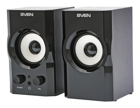 Sven SPS-605, Black акустическая система 2.0 ( SV-0120605BL )