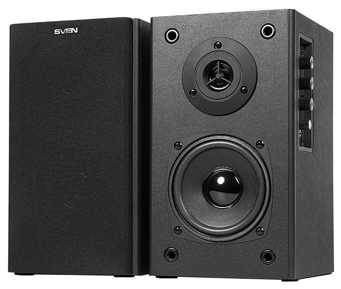 Sven SPS-611S, Black акустическая система 2.0 ( SV-0120611SBL )