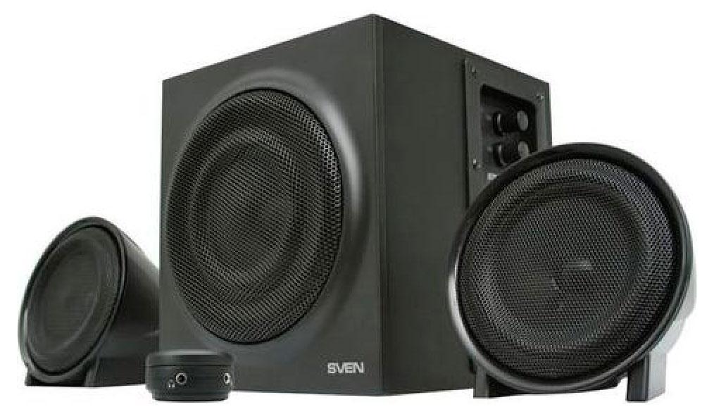 Sven MS-308, Black акустическая система 2.1 с сабвуфером ( SV-0130308BK )