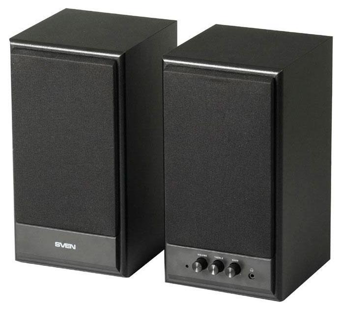 Sven SPS-702, Black акустическая система 2.0 ( SV-0120702BL )