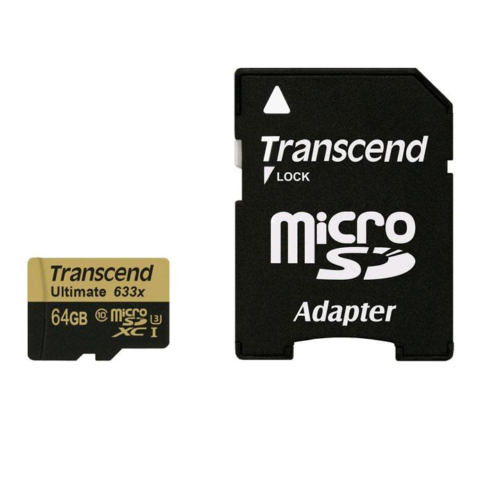Transcend Ultimate microSDXC Class 10 UHS-I U3 633x 64GB карта памяти
