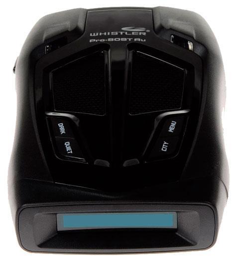 Whistler PRO-80ST Ru, Black радар-детектор00000007197Представленная модель имеет функцию голосовых сообщений, посредством которой Вы будете оповещены о наличии опасного излучения в радиусе действия прибора. Параллельно включится светодиодная индикация и на текстовом дисплее отобразится информация об источнике. Все эти параметры Вы сможете отрегулировать самым оптимальным для себя образом, настроив комфортный уровень звука и яркость подсветки дисплея и светодиодов. Если одновременно радар-детектор обнаружит несколько излучений, будет действовать принцип приоритета важности и опасности измерителя скорости. Три уровня чувствительности в режиме город помогут практически полностью исключить нежелательные ложные срабатывания. Этому так же поспособствует возможность отключения детектирования в любом диапазоне, а так же режимы фильтрации Х/К и Ка.