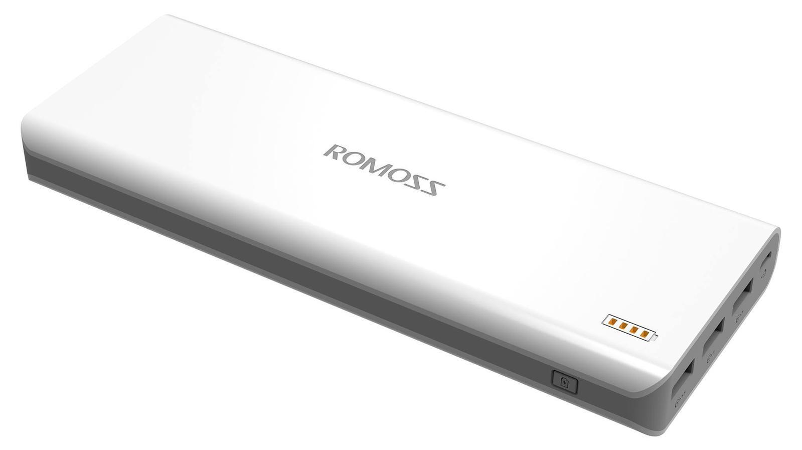Romoss Solo 9, White внешний аккумулятор00000008580Стильный внешний аккумулятор для подзарядки и увеличении времени автономной работы различных мобильных устройств, телефонов, смартфонов и планшетов. Данная модель имеет два выхода USB, комплектуется microUSB-кабелем и имеет четырех секционный светодиодный индикатор заряда.
