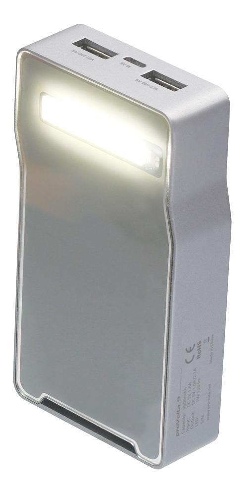 Promate proVolta-9, Grey внешний аккумулятор