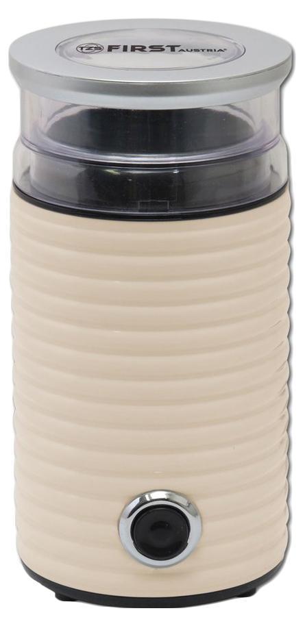First FA-5482-2, Cream кофемолкаFA-5482-25482-2 Кофемолка FIRST, 65 гр, 160 Вт, белый