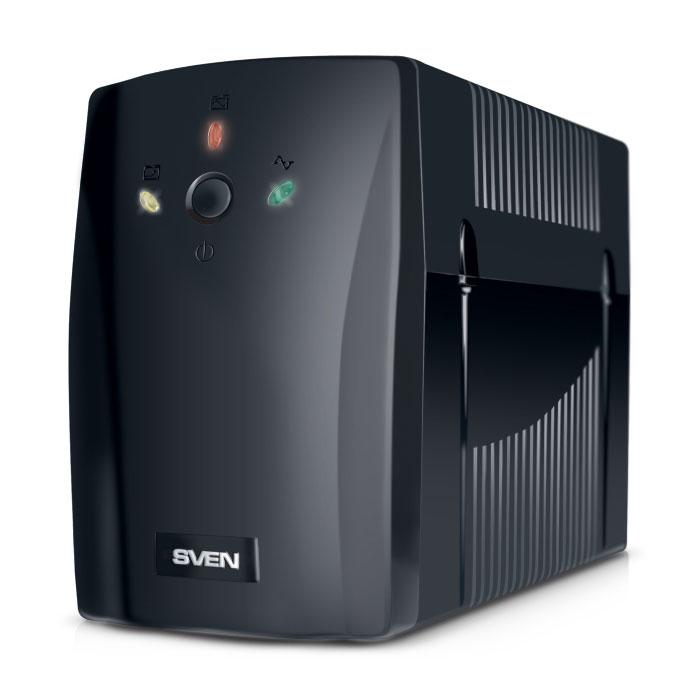 Sven Pro+ 400 источник бесперебойного питанияSV-001186Линейно-интерактивные источники бесперебойного питания SVEN Pro+ 400 предназначены для защиты персональных компьютеров, рабочих станций, а также серверов, оснащенных импульсными блоками питания. Благодаря встроенной батарее ИБП способен работать даже при полном пропадании электроснабжения, что позволяет пользователю сохранить данные и корректно завершить работу операционной системы. Встроенный стабилизатор сетевого напряжения позволяет автоматически регулировать напряжение в диапазоне 165–275 В и обеспечивать возможность длительной непрерывной работы. Это особенность важна для сетей с нестабильным напряжением. SVEN Pro+ 400 снабжен функцией холодный старт, позволяющей принудительно включить ИБП при отсутствии сетевого напряжения. Форма выходного напряжения: апроксимированная синусоида AVR (авторегулятор напряжения) Время переключения: 10 мс Напряжение батарей: 12 В Емкость батареи: 7 Ач Время подзаряда: 4 часа (до уровня >...
